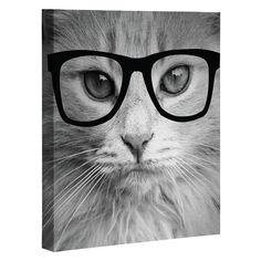 Allyson Johnson Hippest Cat Art Canvas | DENY Designs Home Accessories
