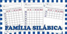 Família Silábica Preschool Activities, Periodic Table, Math, Santa Lucia, Origami, Preschool Literacy Activities, Kids Learning Activities, School Worksheets, Teaching Writing