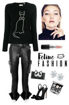 """Feline Fashion"" by kotnourka ❤ liked on Polyvore featuring Monse, Chinti and Parker, Giuseppe Zanotti, Frankie Morello, Chanel and MAC Cosmetics"