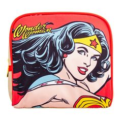 Retro Wonder Woman Cosmetic Case -- New and awesome product awaits you, Read it now : Travel cosmetic bag Travel Cosmetic Bags, Travel Toiletries, Cosmetic Case, Dc Comics, Wonder Woman Makeup, Superhero Gifts, Travel Kits, Travel Bag, Wash Bags