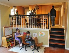 split level kitchen we love the split level floor plan from the upper - Kitchen Designs For Split Level Homes