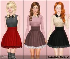 My Sims 3 Blog: Serene Breeze Collared Dress for Teen & Adult Females by Anubis360