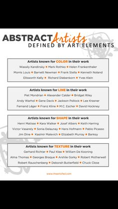 Kelly Richards, Gene Davis, Morris Louis, Kenneth Noland, Bridget Riley, Barnett Newman, Ellsworth Kelly, Yves Klein, Frank Stella