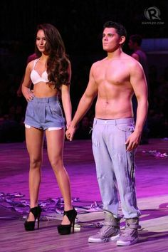 Philippine Model Actor and Actress Ms Sarah Lahbati with boyfriend Mr Richard Gutierrez for the Bench Fashion show Sarah Lahbati, Fashion Show, Boyfriend, Actresses, Actors, Womens Fashion, Ms, Swimwear, Model