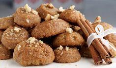 Melomakarona - Traditional Greek Cinnamon & honey syrup cookies.