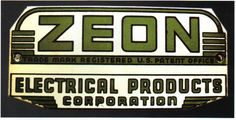 Sign for Zeon Electrical Products Corporation.