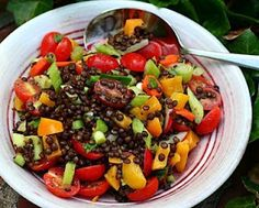 Lots of vegetables get stirred into moist and meaty lentils © A Veggie Venture