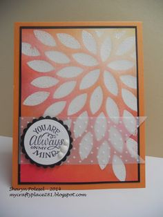 My Crafty Place: Make it Monday #179 - Emboss Resist Using Die Cuts...
