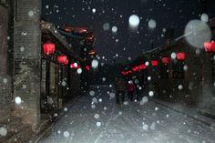 Red lanterns in the snow, Pingyao, China  | China photo