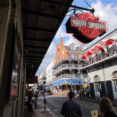 Bourbon Street Harley Davidson, New Orleans, LA I have to go! Harley Davidson Dealers, Bourbon Street, Bike Stuff, New Orleans, Places To See, Cruise, To Go, Bucket, Shops