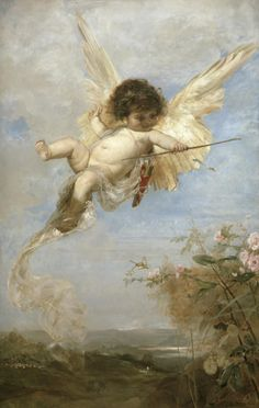 poboh:  Cupid shoots with his bow, Julius Kronberg. (1850 - 1921)