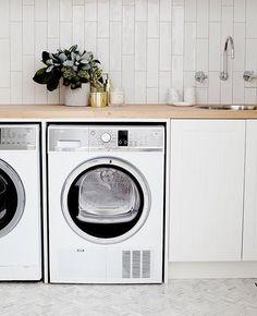 Home Remodel Bedroom .Home Remodel Bedroom Laundry Nook, Small Laundry Rooms, Laundry Room Storage, Laundry In Bathroom, Garage Laundry, Küchen Design, House Design, Design Ideas, Three Birds Renovations