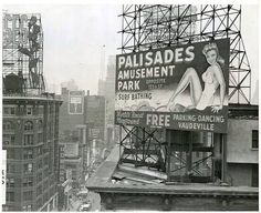 Palisades Amusement Park Billboard New York City Palisades Amusement Park, Palisades Park, Cliffside Park, New York Photography, Art Photography, Tunnel Of Love, Bergen County, Guys And Dolls, Vintage New York