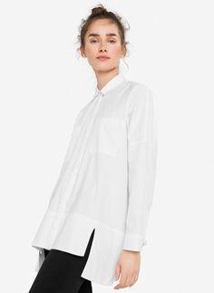 Camisa oversize puño fantasia - Camisas y blusas - Colección - Uterqüe España