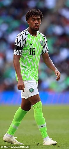 e48100049 Nigeria s striking home kit has been a pre-tournament talking point among  supporters World Cup