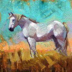 """Daily Paintworks - """"August"""" - Original Fine Art for Sale - © Whitney Hall"""