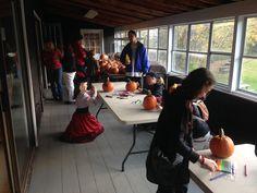 Pumpkin decorating is in full swing