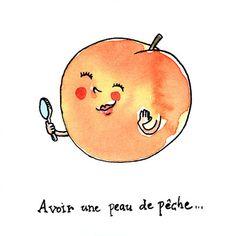 """marion de castillon: Les expressions du potager : """" Avoir une peau de p..."""