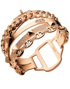 Pulsera de oro Hermes.