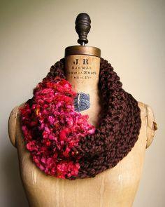 Bohemian art yarn cowl | Flickr - Photo Sharing!