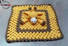 Amigurumi, security blanket, One & Two Company, giraffe, Crochetkowo