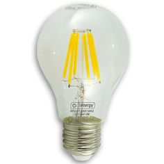 Bec LED cu filament, lumina alba calda, 3 ani garantie - RON www. Lighting Products, White Light, 3 Years, Light Bulb, Warm, Led, 3 Year Olds, Light Globes, Lightbulb