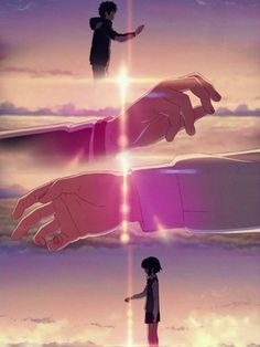 ✔ Couple Wallpaper Casal Your Name Couple Amour Anime, Anime Love Couple, Cute Anime Couples, Your Name Wallpaper, Couple Wallpaper, Kimi No Na Wa Wallpaper, Your Name Anime, Film Anime, Japon Illustration