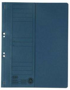 Dosar din carton, cu capse 1/2, 250 g/mp, albastru, ELBA