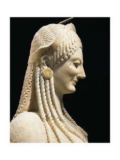 Title: Kore no. detail, Greek art - Archaic Age, the Acropolis Museum in Athens, Credits: Plaster Sculpture, Roman Sculpture, Kore Goddess, Statue Art, Ancient Greek Sculpture, Hellenistic Period, Aesthetic Women, Creta, Dragon Statue
