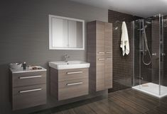 Maximální prostor, užitek a komfort, navrch krásný jednoduchý design. Q MAX Vanity, Bathroom, Design, Catalog, Dressing Tables, Washroom, Powder Room, Vanity Set, Full Bath
