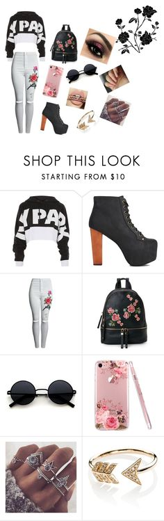 """""""#16"""" by luna-djjoganio ❤ liked on Polyvore featuring Topshop, Jeffrey Campbell, Urban Expressions and EF Collection"""