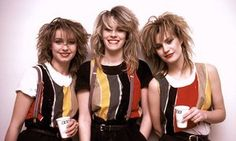 Acceptable in the 80s … Stock, Aitken and Waterman act Bananarama in 1983.
