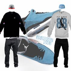 """What To Wear With The Air Jordan 3 """"Powder Blue"""" - SneakerFits"""