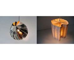 Lamps made from recycled books
