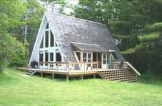 A-Frame house and blue! :D. One of the A Frame Homes that I like then I could BE ME!