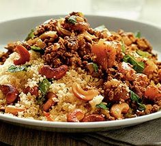 LEBANESE RECIPES: Moroccan spiced mince with couscous recipe