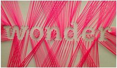 My string art attempt - same idea but different word?