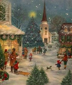 Vintage christmas images victorian greeting card 20 ideas for 2019 Vintage Christmas Images, Old Fashioned Christmas, Christmas Scenes, Christmas Past, Victorian Christmas, Retro Christmas, Country Christmas, Christmas Pictures, Winter Christmas