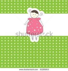 Baby arrival card. Vector illustration - stock vector