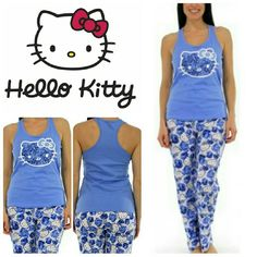 Hello Kitty Print Pant PJ Set Hello Kitty Print Pant PJ Set in blue.   No trade, discount with bundle! Considering all reasonable offers made via the blue offer button only! Hello Kitty Intimates & Sleepwear Pajamas