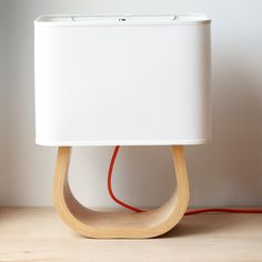 The Michigan Left Table Lamp Birch Bent Plywood by Ciseal on Etsy