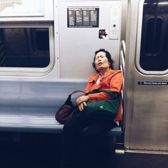 Locked out of home at 1:00 AM and roaming up and down in the subways for almost two hours I am exactly this person here in the picture.  #lockedoutanddeadsleepy #subwaystotherescue by saxophonestories