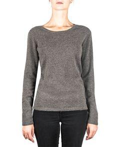 Damen Kaschmir Pullover Rundhals taupe melange front Elegant, Tops, Sweaters, Fashion, Cashmere Sweaters, Women's, Classy, Moda, Chic