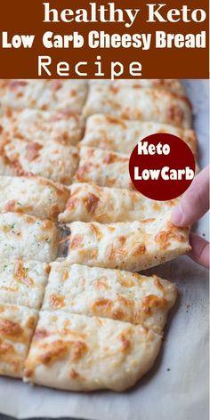 healthy Keto Low Carb Cheesy Bread Recipe - Best Recipes in Kitchen Healthy Bread Recipes, Ketogenic Recipes, Low Carb Recipes, Diet Recipes, Cooking Recipes, Ketogenic Diet, Healthy Garlic Bread, Jar Recipes, Sausage Recipes