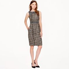 J.Crew Pepper Tweed Dress