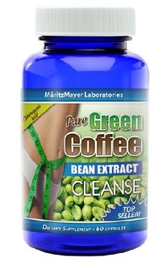 Pure Green Coffee Bean Extract Cleanse 60 capsules 1 Bottle >>> For more information, visit image link.