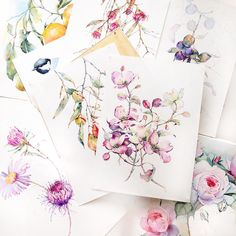 Срезала все старое с планшетов  Дорогу молодым! Watercolor Sketchbook, Watercolor And Ink, Watercolour Painting, Watercolor Flowers, Watercolors, Illustration Blume, Fruit Art, Colorful Paintings, Floral Illustrations