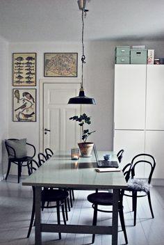 Bloggkontor, hemmakontor och kök med skolaffischer – Thinkorganic – Husligheter