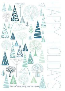 customize this holiday card with your companys name and message company names card templates - Holiday Card Templates