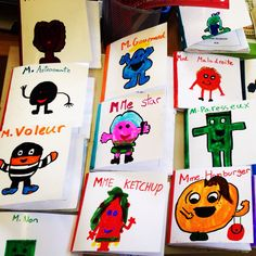 Livres écrits par les élèves monsieur madame 4ème Education And Literacy, French Education, French Teacher, Teaching French, Comprehension Activities, Writing Activities, Mr Men Little Miss, 3rd Grade Writing, Core French
